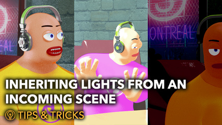 Inheriting Lights from an Incoming Scene